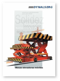 """Portada del Catálogo """"Mesas elevadoras móviles"""""""