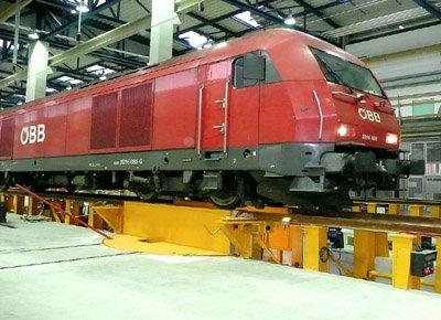 Elevadores para cambio de bogies en locomotora.