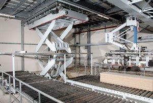 Mesa elevadora para cadena de producción